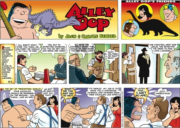 Alley Oop on Sunday August 3, 2014 Comic Strip