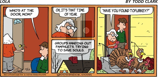 Lola on Sunday November 17, 2019 Comic Strip