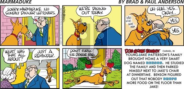 Marmaduke on Sunday March 26, 2017 Comic Strip