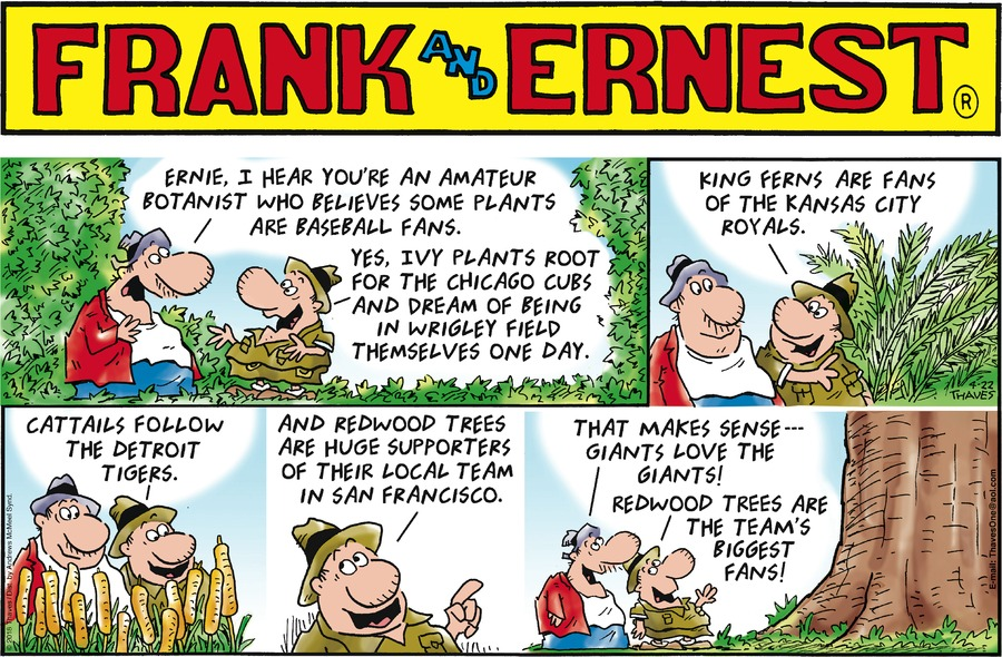 Frank and Ernest Comic Strip for April 22, 2018