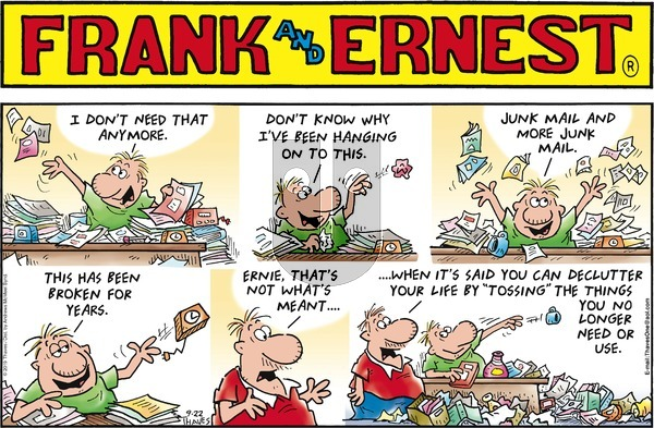 Frank and Ernest - Sunday September 22, 2019 Comic Strip
