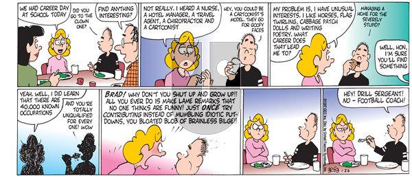 Luann on Sunday January 26, 1997 Comic Strip