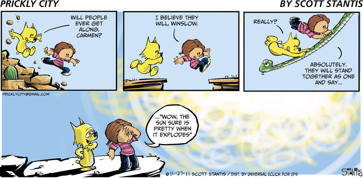 Prickly City for Nov 27, 2011 Comic Strip