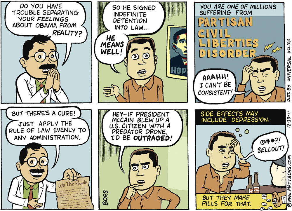 Matt Bors Comic Strip for December 30, 2011