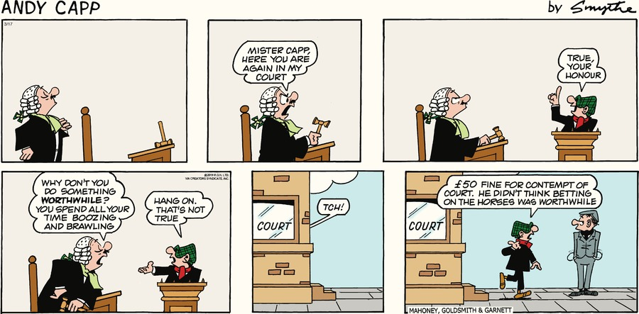 Andy Capp by Reg Smythe for March 17, 2019