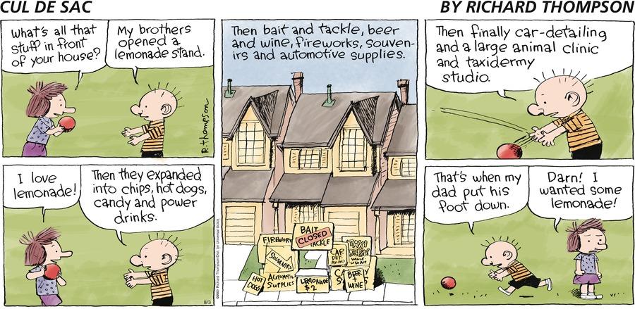 Cul de Sac for Aug 3, 2014 Comic Strip