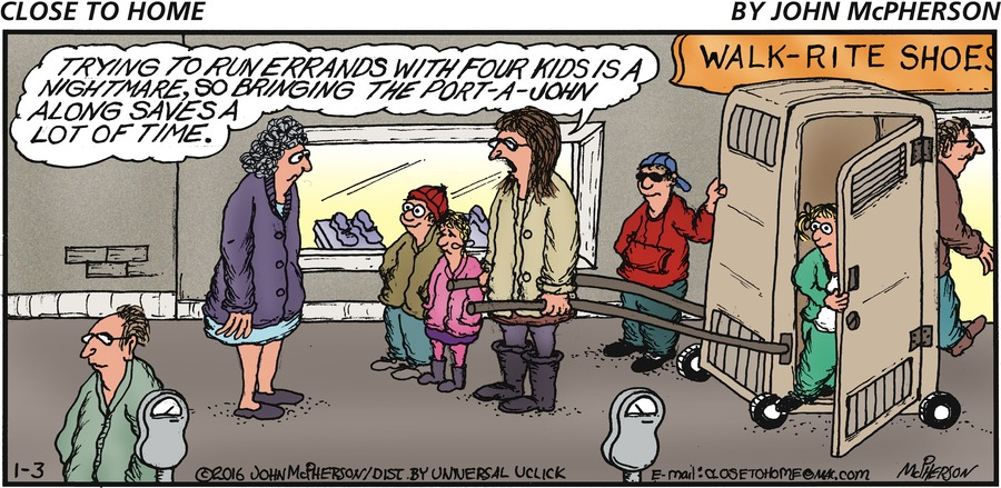 Close to Home for Jan 3, 2016 Comic Strip