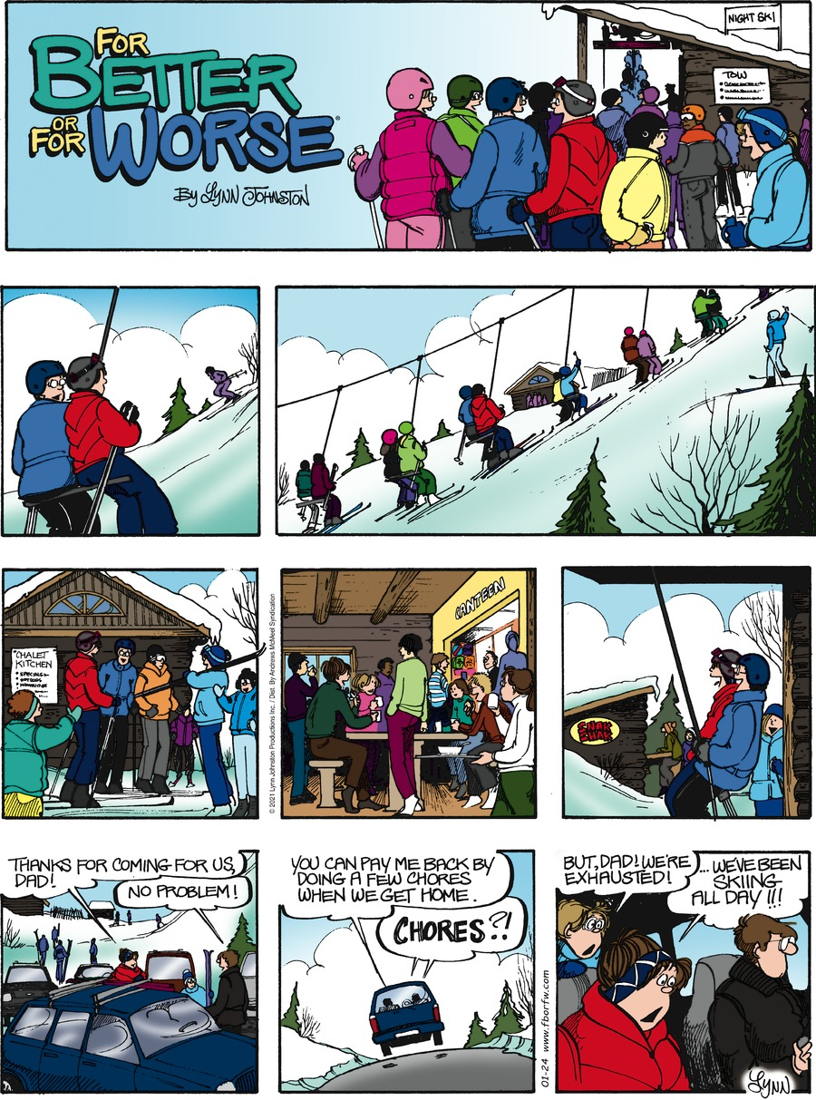 For Better or For Worse Comic Strip for January 24, 2021
