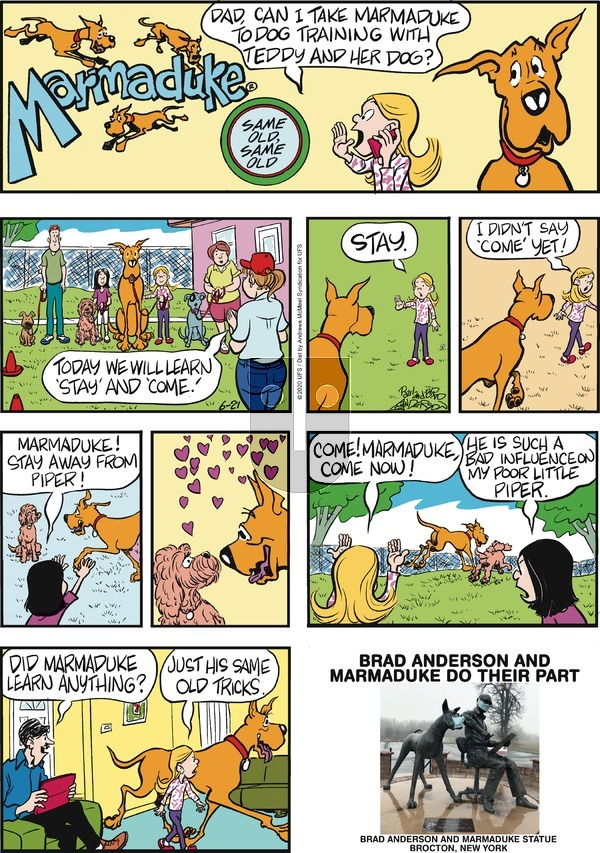 Marmaduke on Sunday June 21, 2020 Comic Strip