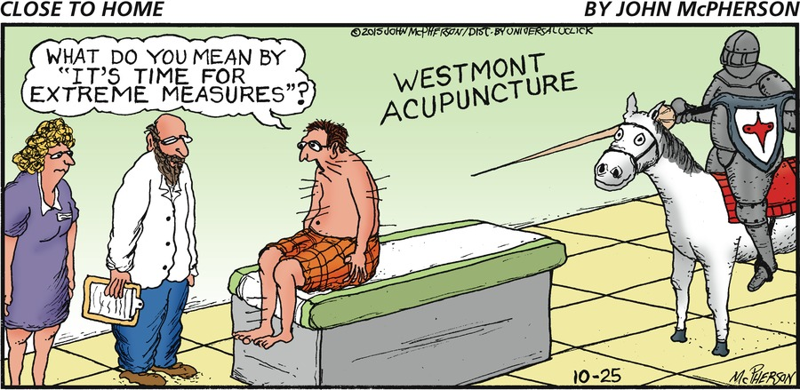Close to Home for Oct 25, 2015 Comic Strip