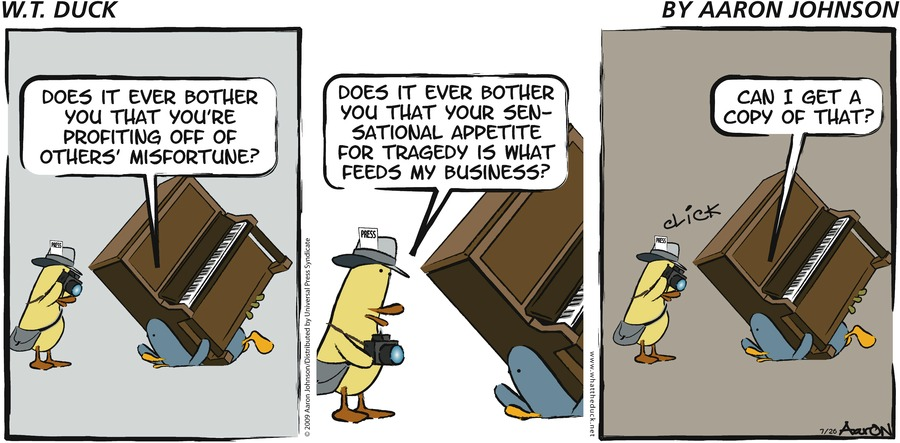 W.T. Duck Comic Strip for February 26, 2017