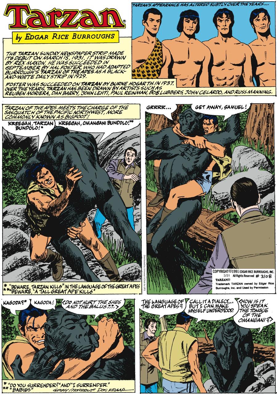 Tarzan for Mar 31, 2013 Comic Strip