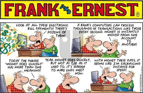 Frank and Ernest on Sunday July 12, 2015 Comic Strip