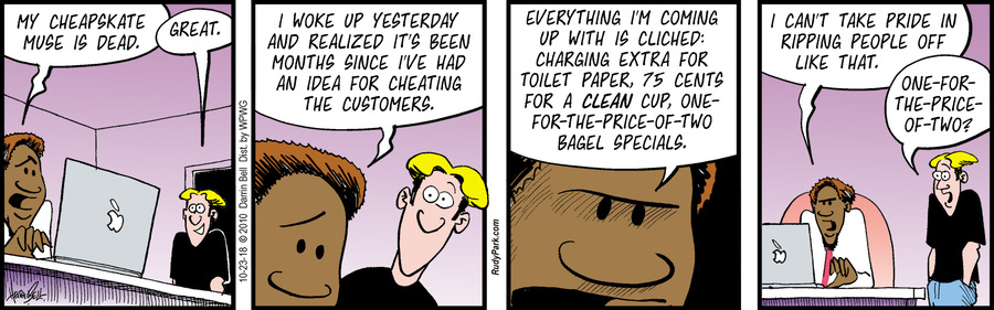 Rudy Park Comic Strip for October 23, 2018