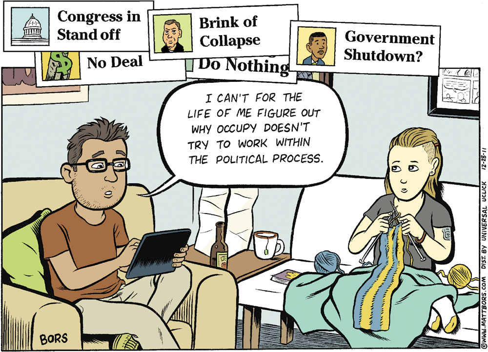 Matt Bors Comic Strip for December 28, 2011