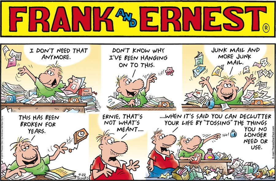 Frank and Ernest Comic Strip for September 22, 2019