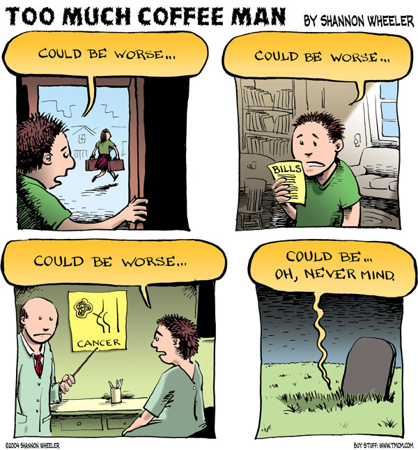 Too Much Coffee Man for Jan 17, 2013 Comic Strip
