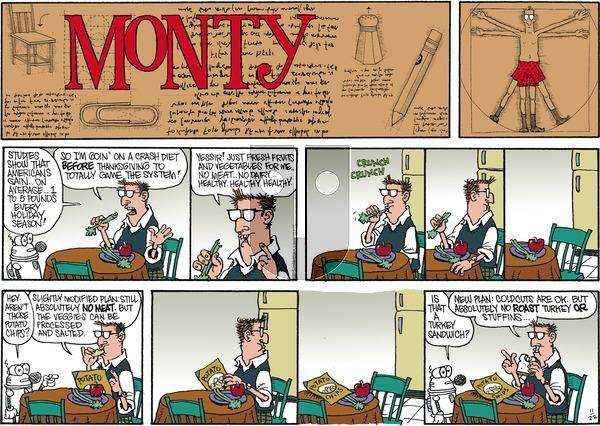 Monty on Sunday November 22, 2015 Comic Strip