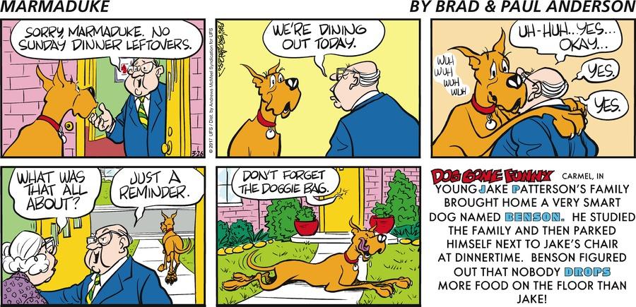 Marmaduke for Mar 26, 2017 Comic Strip