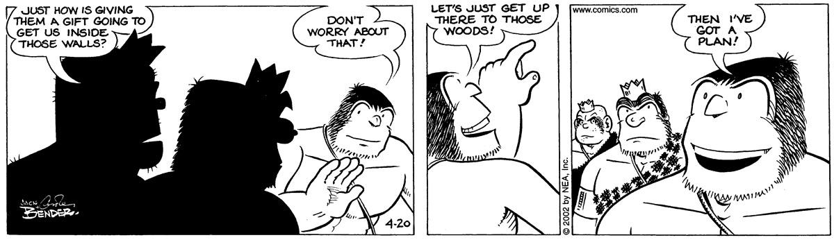 Alley Oop for Apr 20, 2002 Comic Strip