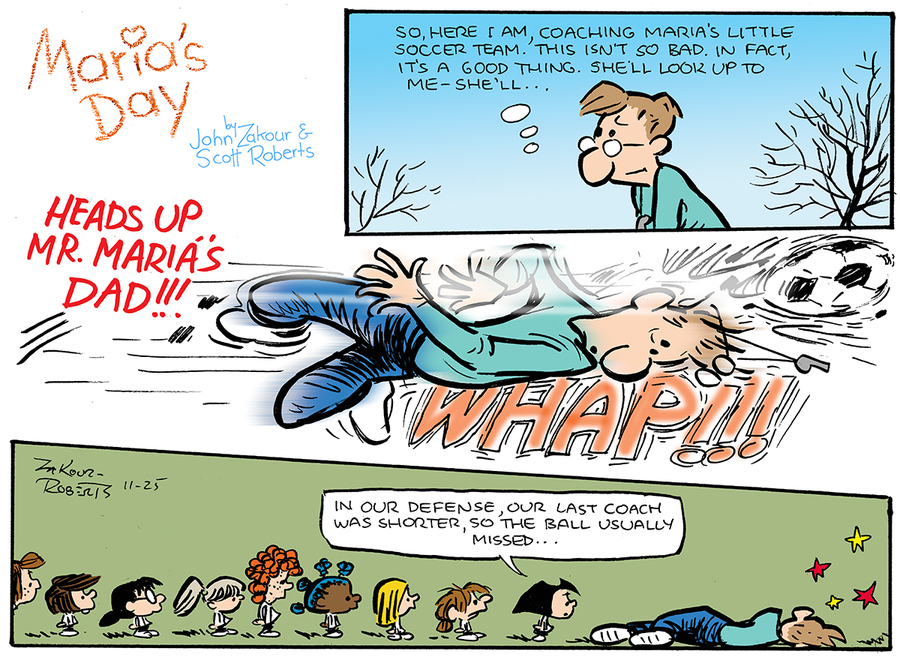 Maria's Day for Nov 25, 2012 Comic Strip