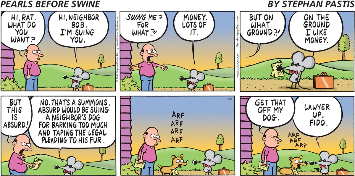 Pearls Before Swine Comic Strip for October 05, 2008