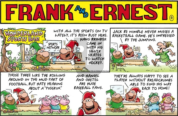 Frank and Ernest on Sunday October 11, 2020 Comic Strip