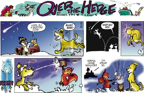 Over the Hedge on Sunday December 31, 2017 Comic Strip