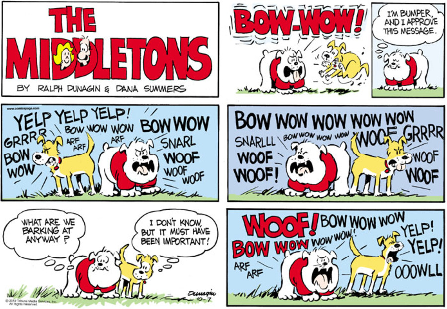 The Middletons for Oct 7, 2012 Comic Strip