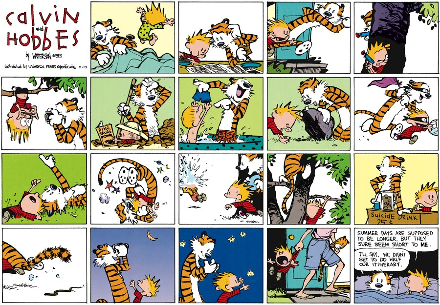 Calvin and Hobbes Comic Strip for August 18, 2013