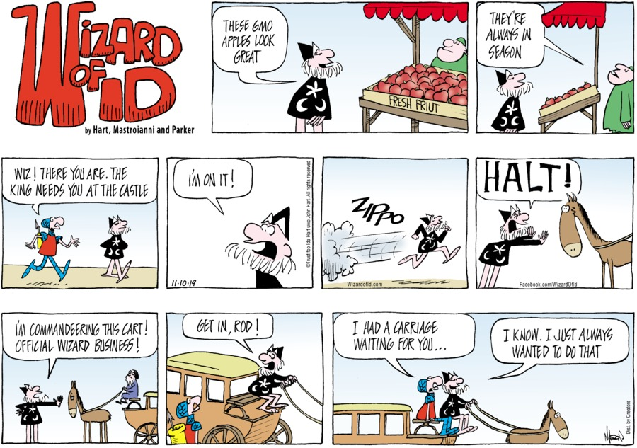 Wizard of Id Comic Strip for November 10, 2019
