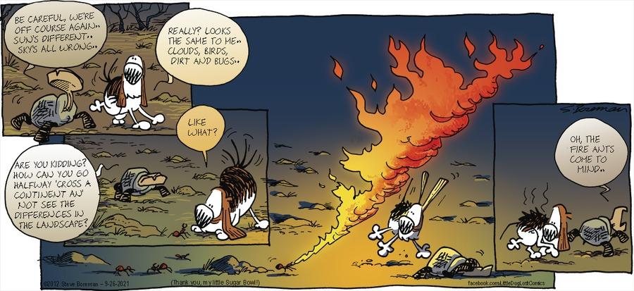 Little Dog Lost Comic Strip for September 26, 2021