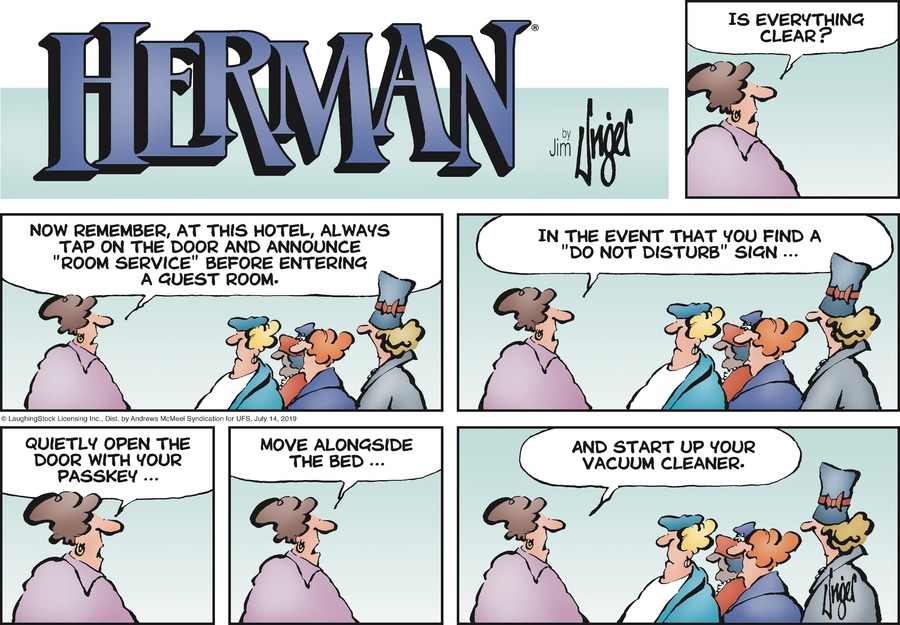 Herman Comic Strip for July 14, 2019