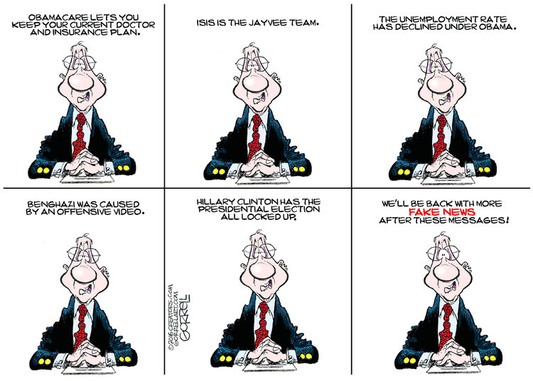 Bob Gorrell Comic Strip for December 14, 2016