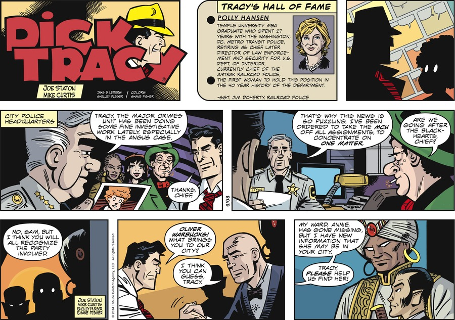 Dick Tracy Comic Strip for June 08, 2014