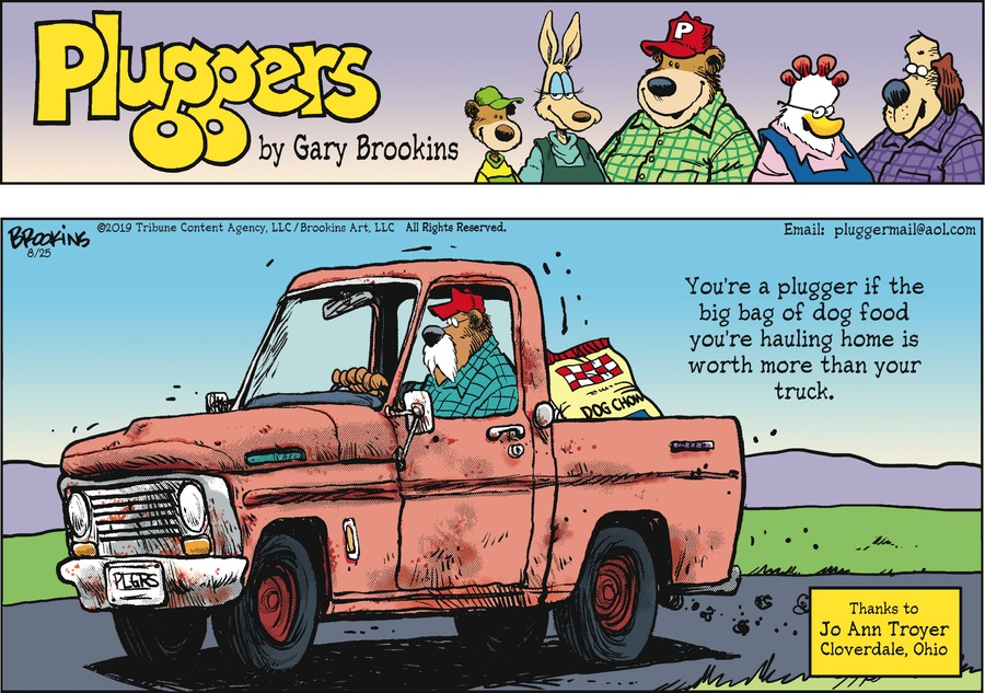 Pluggers Comic Strip for August 25, 2019