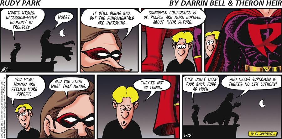 Rudy Park for Jan 13, 2013 Comic Strip