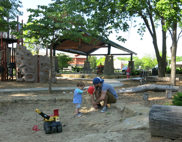 Play with your kids, and you're building a relationship while you and your child fill a toy dump truck with sand or explore the world of nature. Well-designed play equipment inspires kids and teaches them about themselves and the world around them. When kids come to this Playworld playground, they sense that the space has been designed for them.