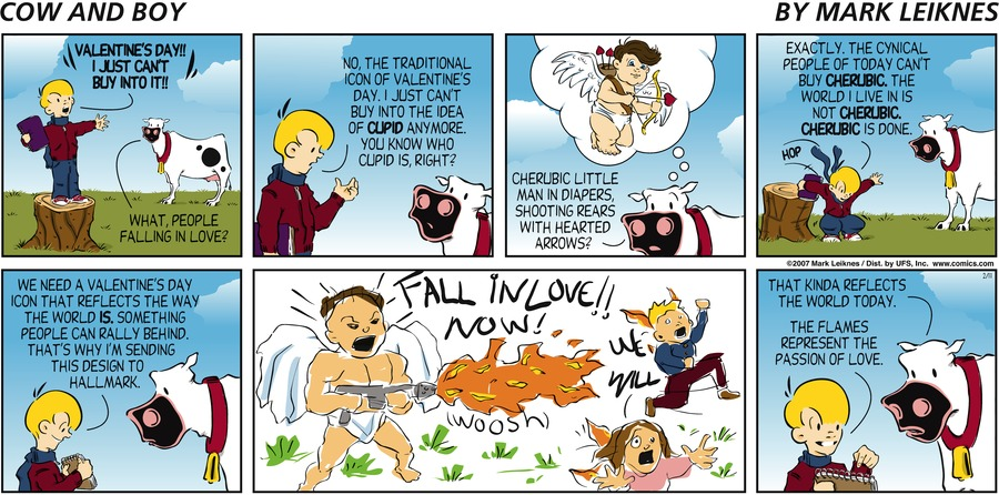 Cow and Boy Classics Comic Strip for March 03, 2021