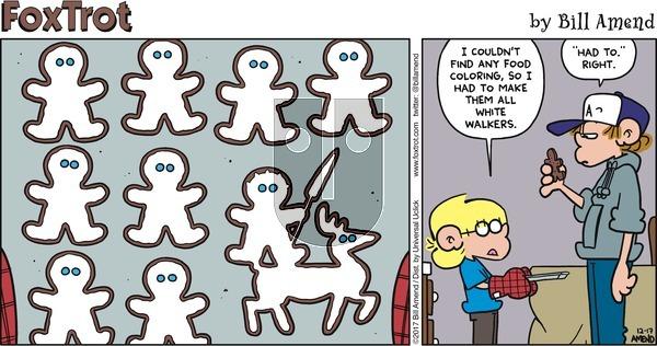 FoxTrot - Sunday December 17, 2017 Comic Strip