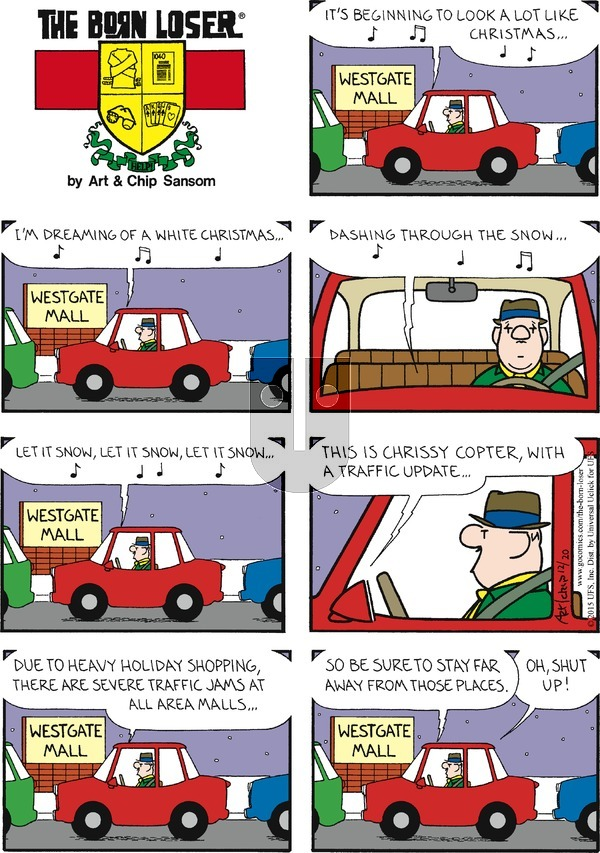 The Born Loser on Sunday December 20, 2015 Comic Strip