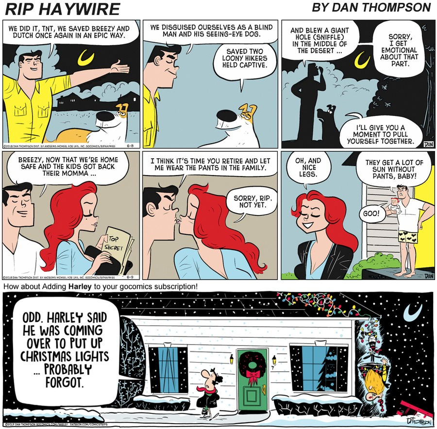 Rip Haywire Comic Strip for December 20, 2020