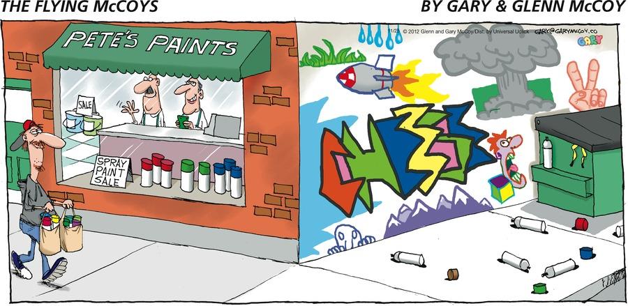 The Flying McCoys for Nov 25, 2012 Comic Strip