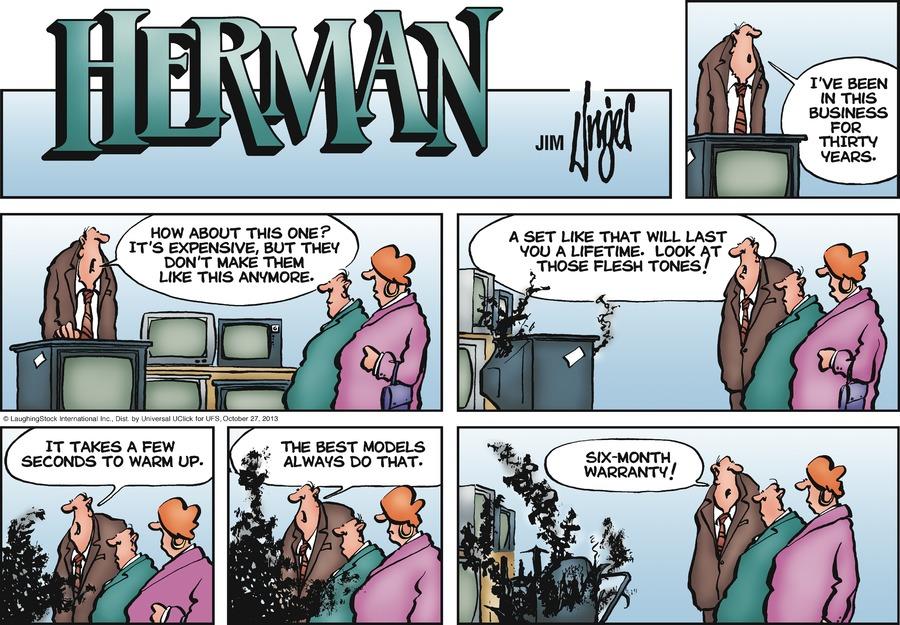 Herman Comic Strip for October 27, 2013