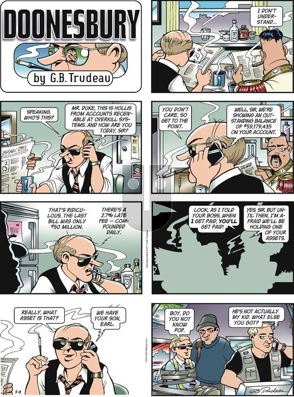 Doonesbury on Sunday May 8, 2011 Comic Strip