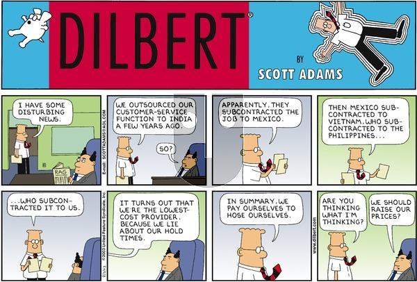 Dilbert on Sunday August 3, 2003 Comic Strip