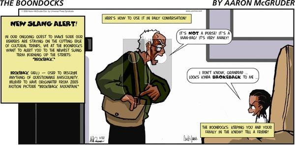 The Boondocks on Sunday January 22, 2006 Comic Strip