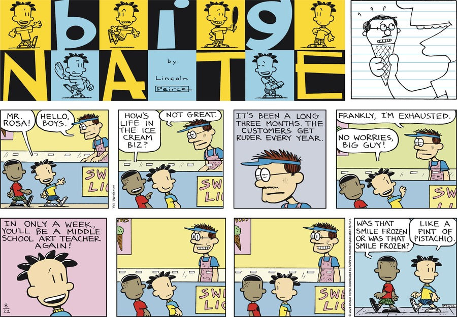 Big Nate Comic Strip for August 22, 2021