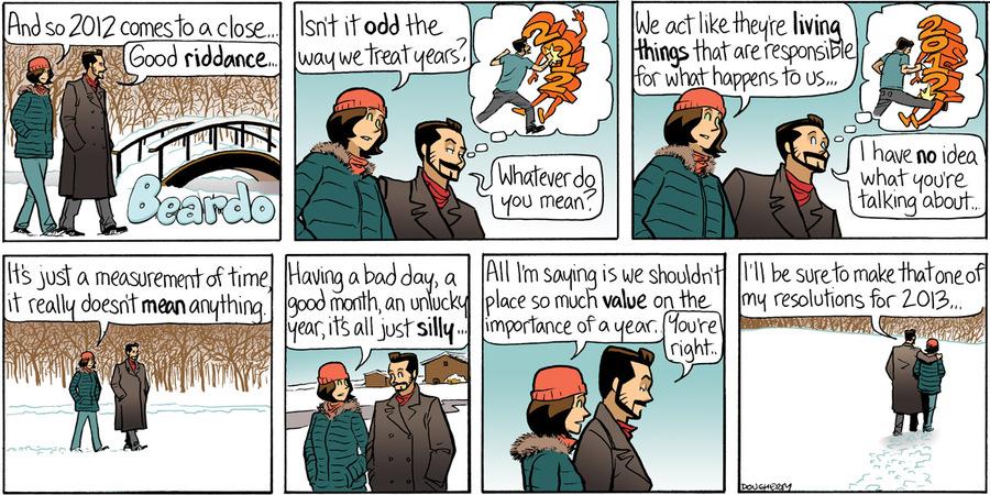 Beardo for Dec 30, 2012 Comic Strip