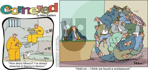 Cornered on Sunday February 23, 2020 Comic Strip